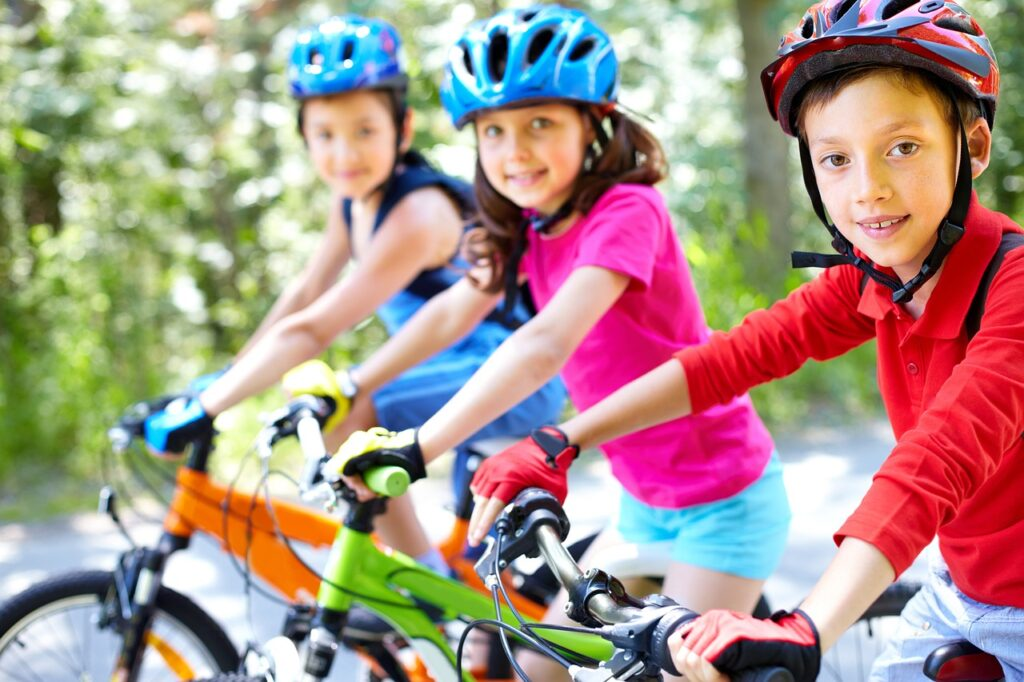 bike, children, cycling