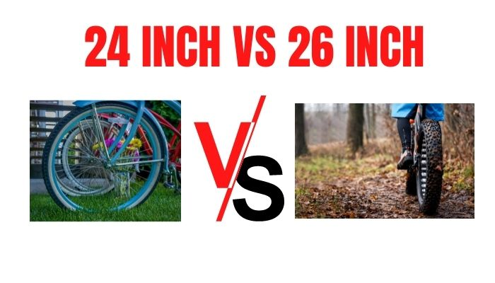 WHAT IS THE DIFFERENCE BETWEEN A 26 AND 24 BIKE WHEELS?